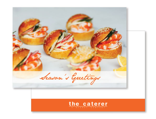 "Greeting card for ""The Caterer"" in Sydney"