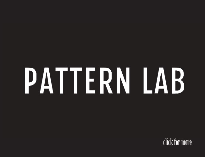 Logo, Flyer and web design concept for Pattern Lab, freelance website for textile designers