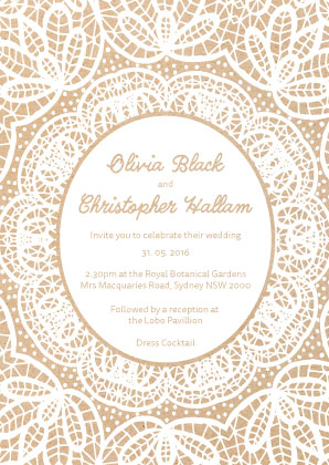 Burlesque White Invitation